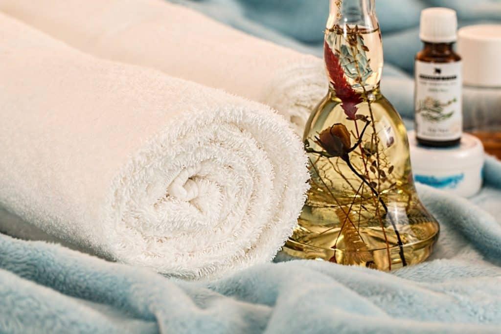 Ręczniki w salonu SPA